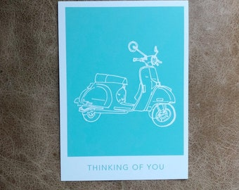Scooter Thinking of You Postcard (10 pack)