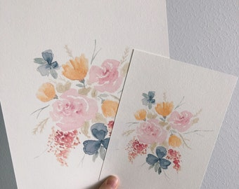 Fall bouquet print