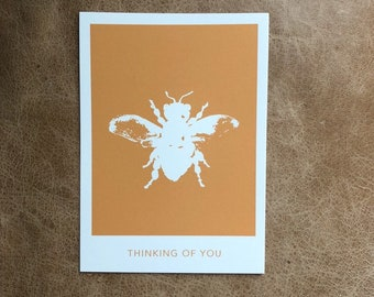 Single Bee Thinking of You Postcard (10 pack)
