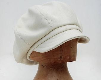 Cream baker boy cap French baker boy cap cotton baker boy cap peaky blinders cap tweed baker boy cap cream newsboy cap Womens captain cap