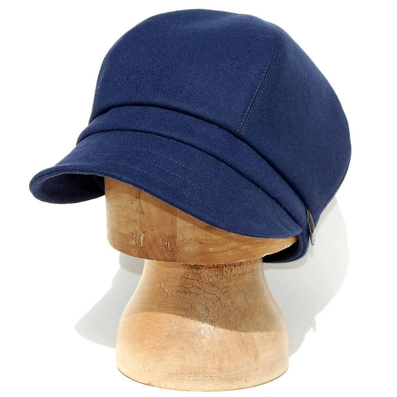 fd94d4689438d Handmade French cap Navy cotton cap Navy newsboy cap