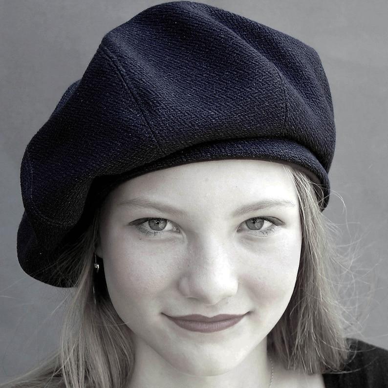 e966cf2d231b6 French workwear beret in indigo heavy cotton fabric Beret