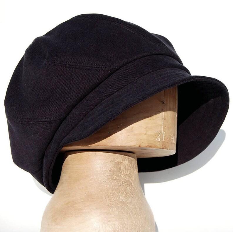 aa7417b45c141 Black baker boy cap black moleskin cap peaky blinder cap