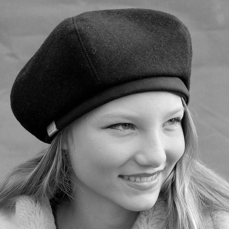 a3aab8ab1cb78 Wool French beret ZUT cap Womens designer cap French hat