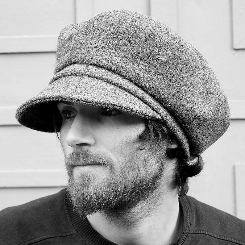 64c29657758ef Handmade Harris Tweed Baker boy cap Peaky Blinders Newsboy