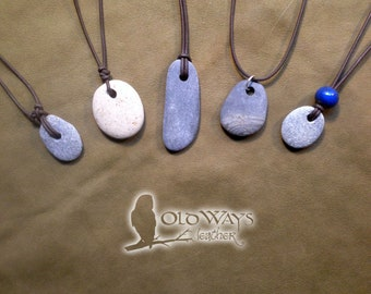 Natural pebble necklace