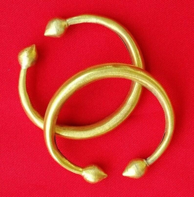 ankle bracelet bangles lotus bud brass Thai dancing anklet Thai dancer costume