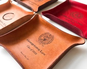 Law School Graduation Gift Custom Leather Tray College Ideas New Lawyer Bar Class Of 2018