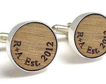 Best Man Cufflinks Whisky Barrel Cufflinks Personalised Wedding Cufflinks Whisky Gift Gift for Him Scottish Cufflinks