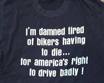 8069d506c Vintage early 80's biker t-shirt