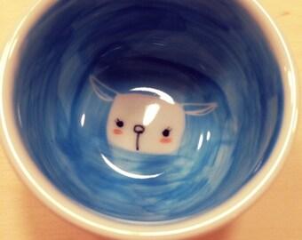 cute baby lamb small cup