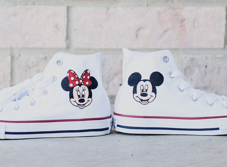 764ffbdbe04b Customizable Disney Mickey Mouse and Minnie Mouse Hand Painted
