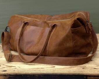 Brown Mens Travel Bag Groomsmen Gift Men s Overnight Bag Leather Weekender  bag Leather Duffle Bag Men s Travel weekender bag women 30d406977a3ea