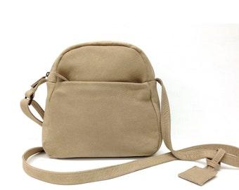2e7c382492 Sale!!! Small leather bag Crossbody Purse bag handmade zippered distressed  leather crossbody by Limor Galili