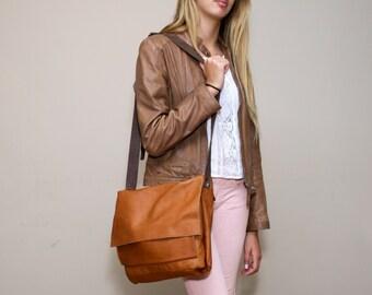 Sale!!! Leather messenger bag, Messenger bag women, leather crossbody bag, crossbody bag for women, Soft leather crossbody bag