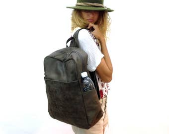 Sale!!! Leather Backpacks for women Gray Leather womens backpack leather macbook air backpack