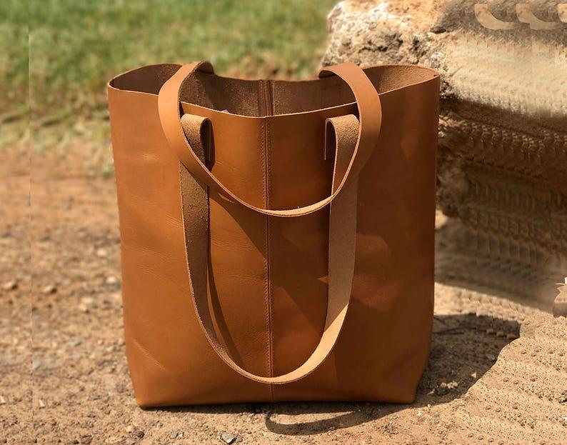 a62fc6e35e0b7 Sale Camel leather tote bag Camel leather bag vegan Camel
