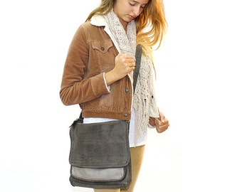 "Sale!!! 11"" leather crossbody bag leather bag Leather tote bag women handbag bags school bag"