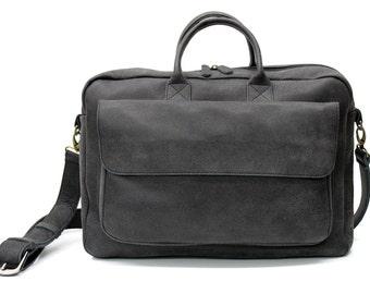 """Sale!!! Distressed Black Leather Messenger Bag, 15"""" messenger bag men, mens leather laptop bag, leather laptop messenger bag men"""