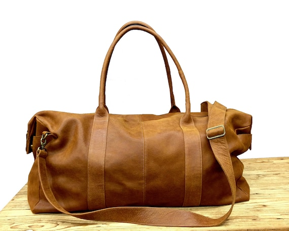 SALE Distressed brown Leather Duffel Bag Leather Travel Bag   Etsy f5e81fb0e0
