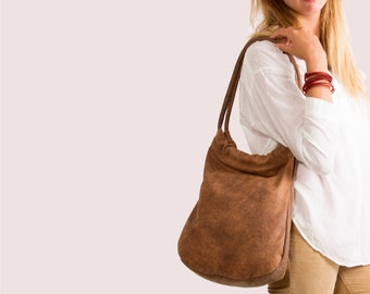Sale !!! Distressed Brown leather bag, leather tote bag in brown