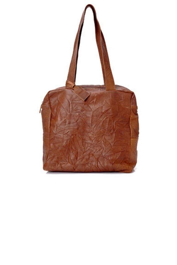 e6ea72eb2d Sale Leather zip tote Brown Leather tote Leather tote