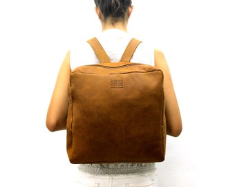 Sale!!! Brown Leather backpack bag Backpack purse Distressed leather backpack women's Laptop bag