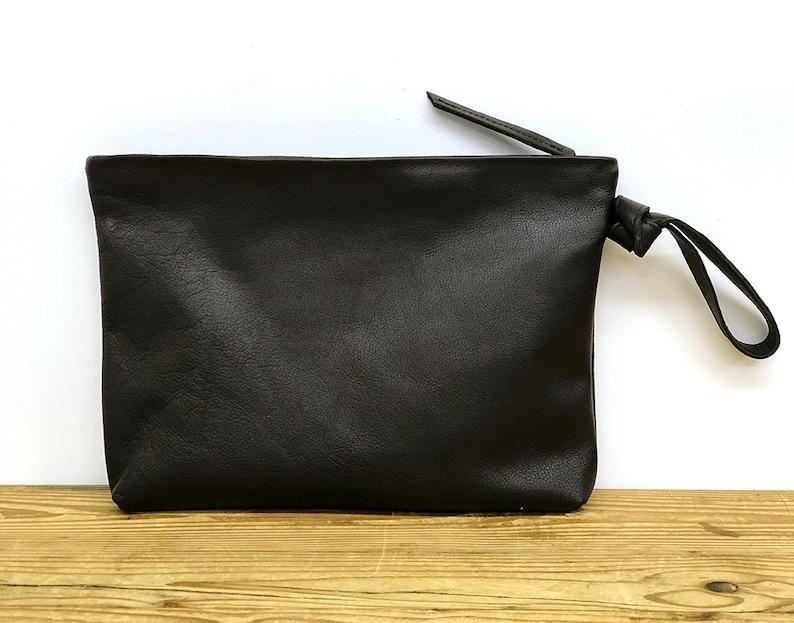 414e7b6b9a4fa Sale Black clutch purse Leather clutch Wristlet clutch wallet | Etsy