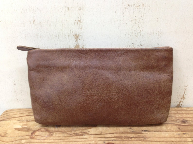 9a14eb5d48 Sale Brown leather zipper pouch Small leather purse