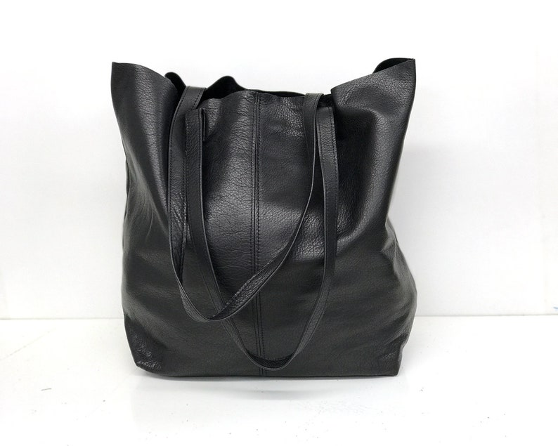 bc5fd871b74 Sale!!! Black leather bag Tote bag soft leather tote bag Large tote Shopper  Leather messenger Tote bag lightweight tote Crossbody options