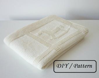 Baby blanket knitting pattern / knit baby blanket pattern / baby blanket pattern  / knitting pattern for babies