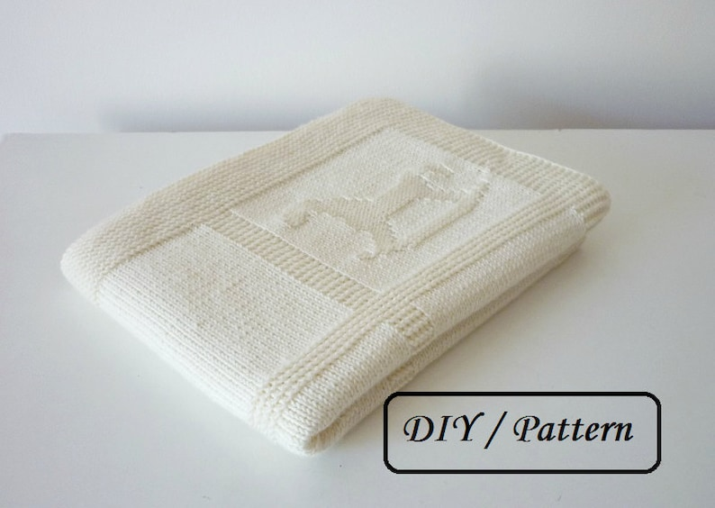 Baby blanket knitting PATTERN/ Baby blanket PATTERN / easy image 0