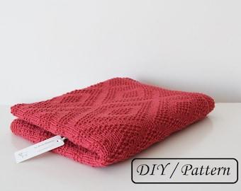 Baby blanket pattern /knit baby blanket pattern / baby blanket knitting pattern / knitting pattern for babies