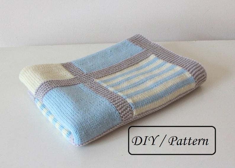Knit baby blanket PATTERN / baby blanket PATTERN/ baby blanket image 0