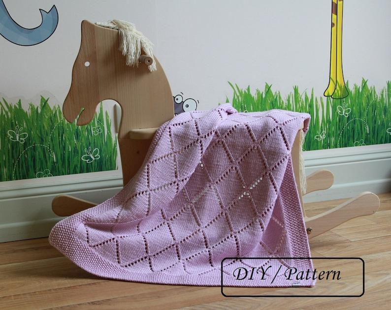 Baby blanket knitting pattern / Knit baby blanket PATTERN / image 0