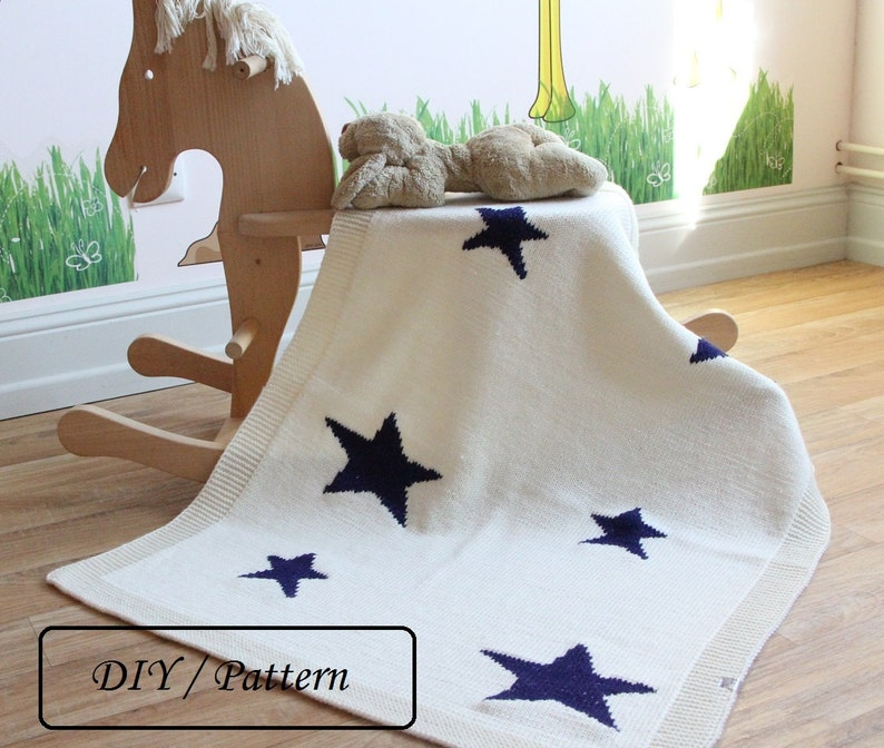 Baby blanket PATTERN / Knit baby blanket PATTERN / Star image 0