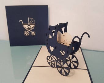 Baby Carriage Pop Up Card