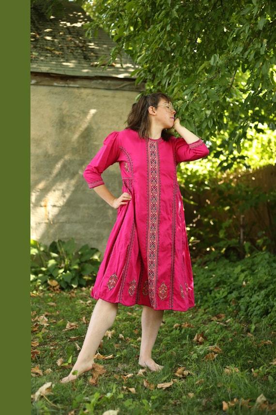 Embroidered Folk Dress