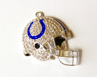 Indianapolis Colts Inspired Rhinestone Pendant