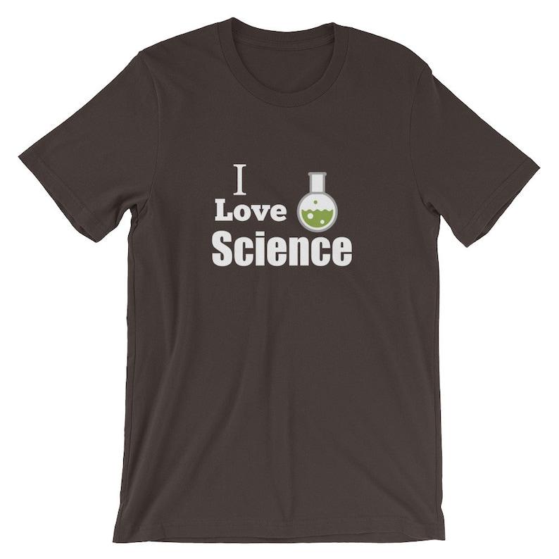 115d93a7c I Love Science Bubbling Beaker Graphic Short-Sleeve Unisex | Etsy