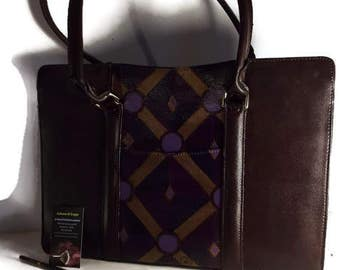 5e2c8f36f207 SALE HandPainted Leather Briefcase