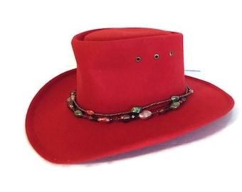 ec26b2eb932 Cowboy Hat Western Express Inc in Red Felt