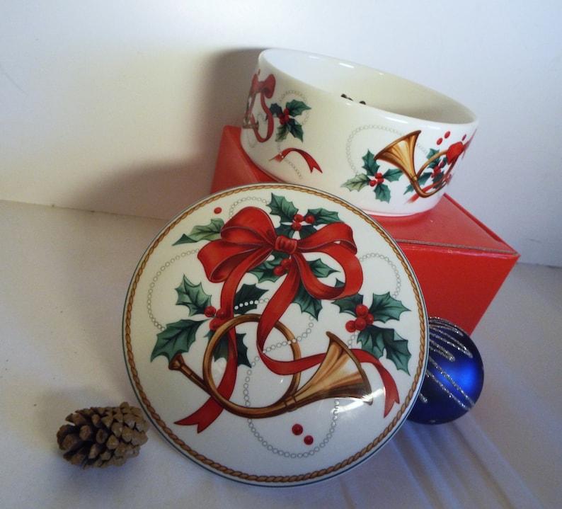Vintage Mikasa Candy Dish/ Christmas Magic/ In Original Box/ image 0