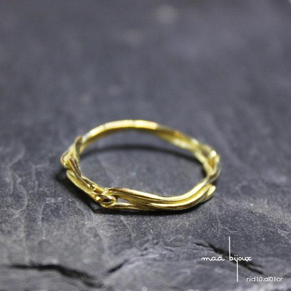 Alliance Gold Gelb 18 Karat Allianz einfach und originell