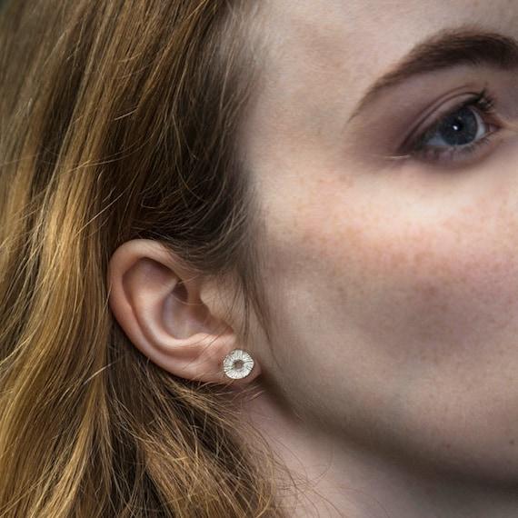 Moderne Ohrringe In Sterling Silber Minimalistischen Chips Etsy