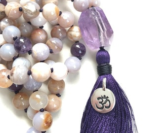 OM Charm, Tassel Necklace Charm, Mala Bead Charm, Yoga Jewelry