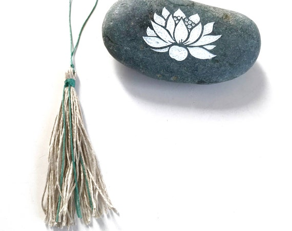 Add A Natural Linen Tassel To Your Mala Beads, Customize Your Mala Necklace, Wet Spun Linen Tassel, Durable Natural Tassel For Mala Beads