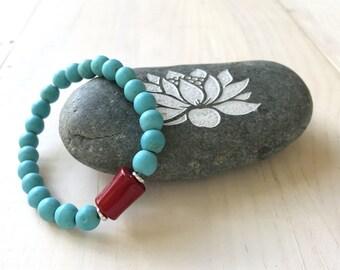 Stacking Bracelet Match Your Mala Bracelet Amazonite And Aqua Agate Bracelet Yoga Jewelry Scenery Jasper Mala Bracelet Stretch Bracelet