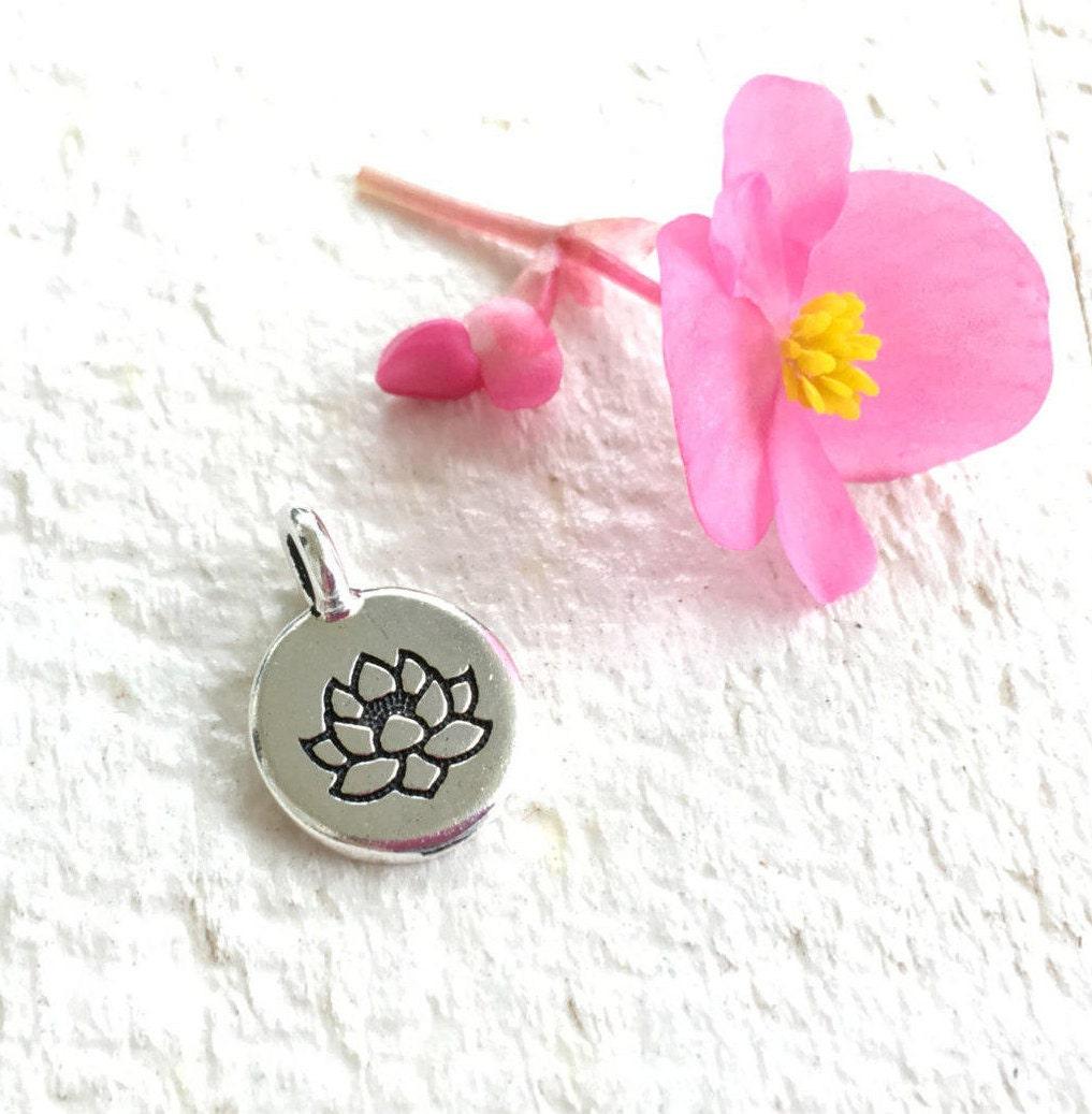 Lotus Flower Charm For Tassel Mala Bead Charm Lotus Jewelry Add A