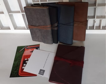 A6 leather address book - Different colors - handmade address book leather - address book with leather cover